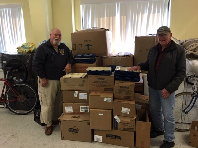 Mike and Harold, from Grace United Methodist Church, very generously donated 250 kitchen compartment trays to assist the Brisben Center's Meal Program. We serve just under 95,000 meals each year are very grateful for this gift. Thank you!!!