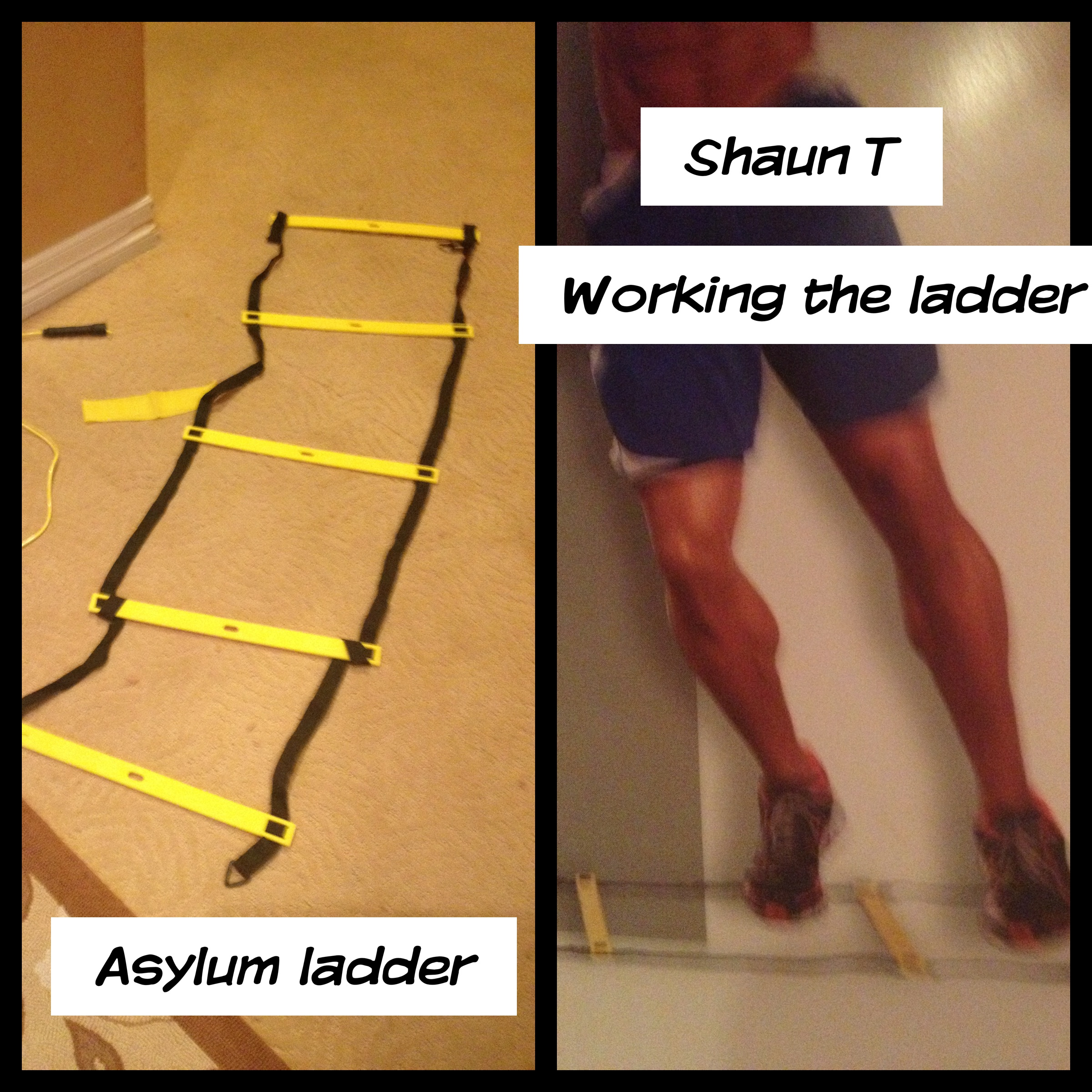 Yes, this is the Agility ladder - and that is truly Shaun T's pace - its not for sissy's!