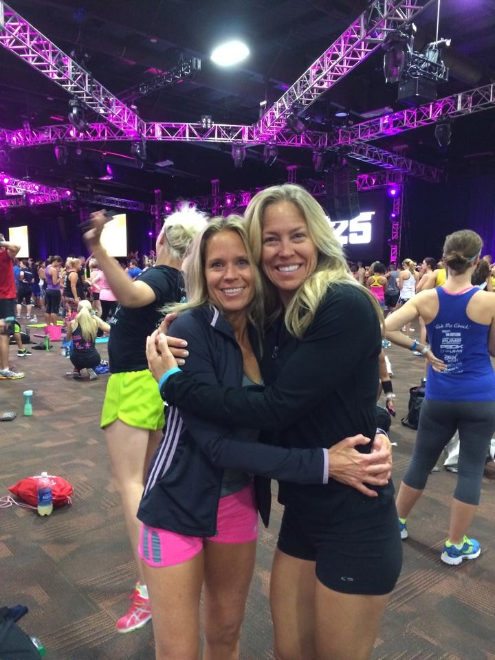 Here I am with my buddy - Stephenie with Fittbodies - who has embraced me literally in this business.