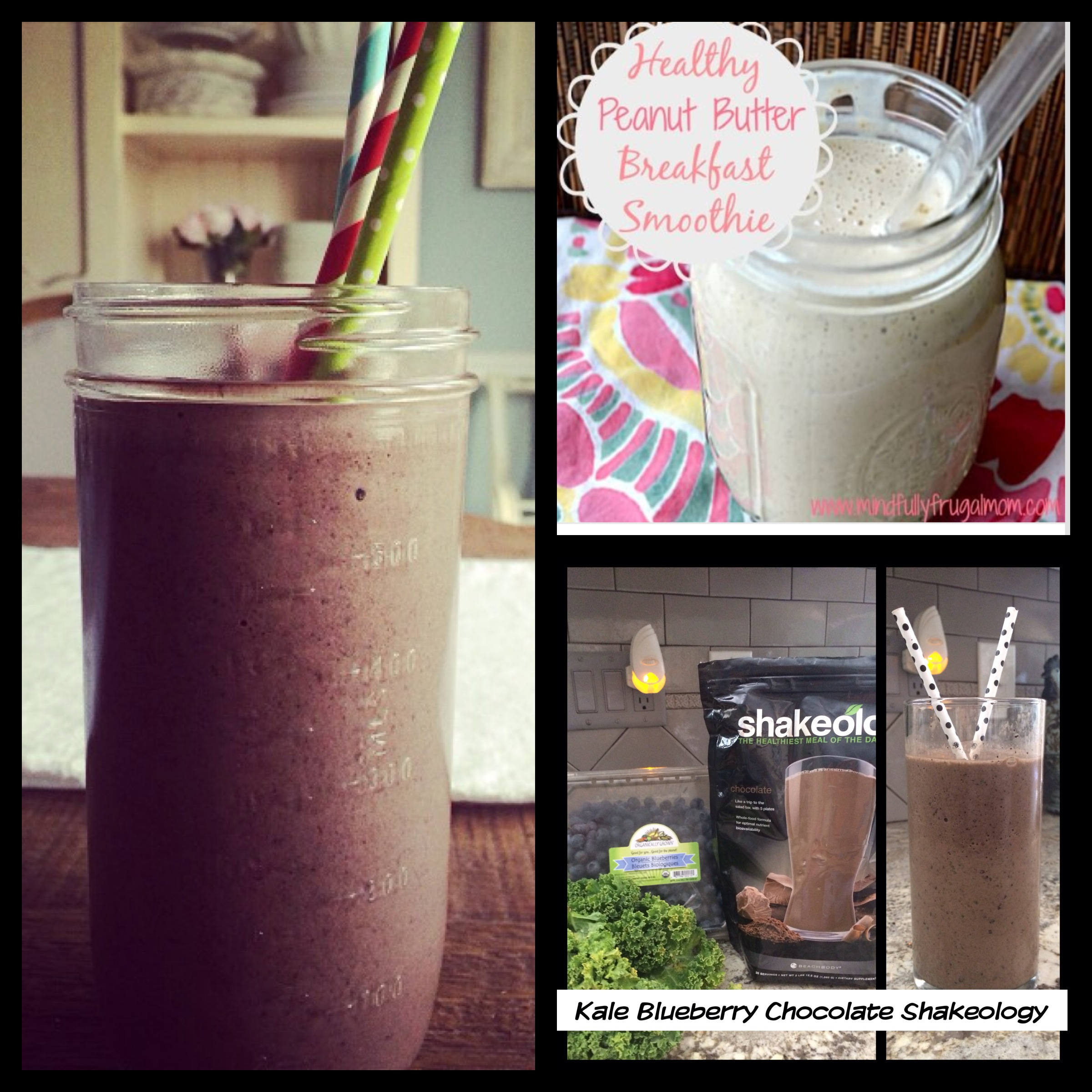 Chocolate ShakeO and Vanilla ShakeO - sometimes I do put Kale and Blueberries in it or p-nut butter