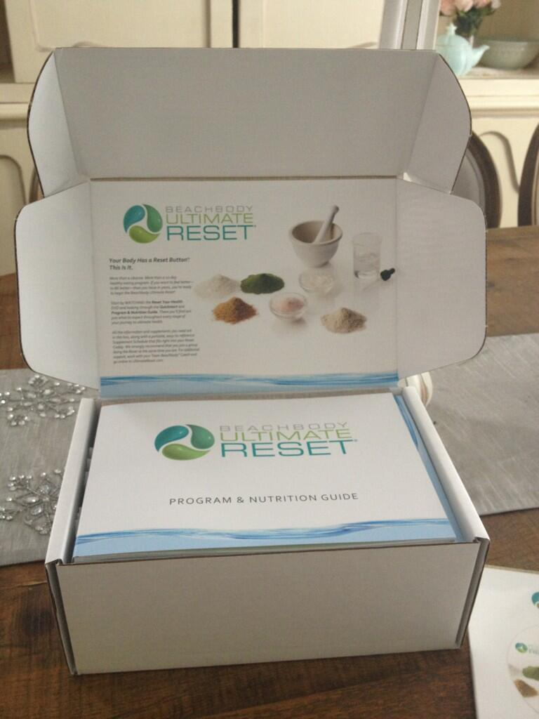 So excited when the Ultimate Reset showed up - getting ready to really work on my clean eating.