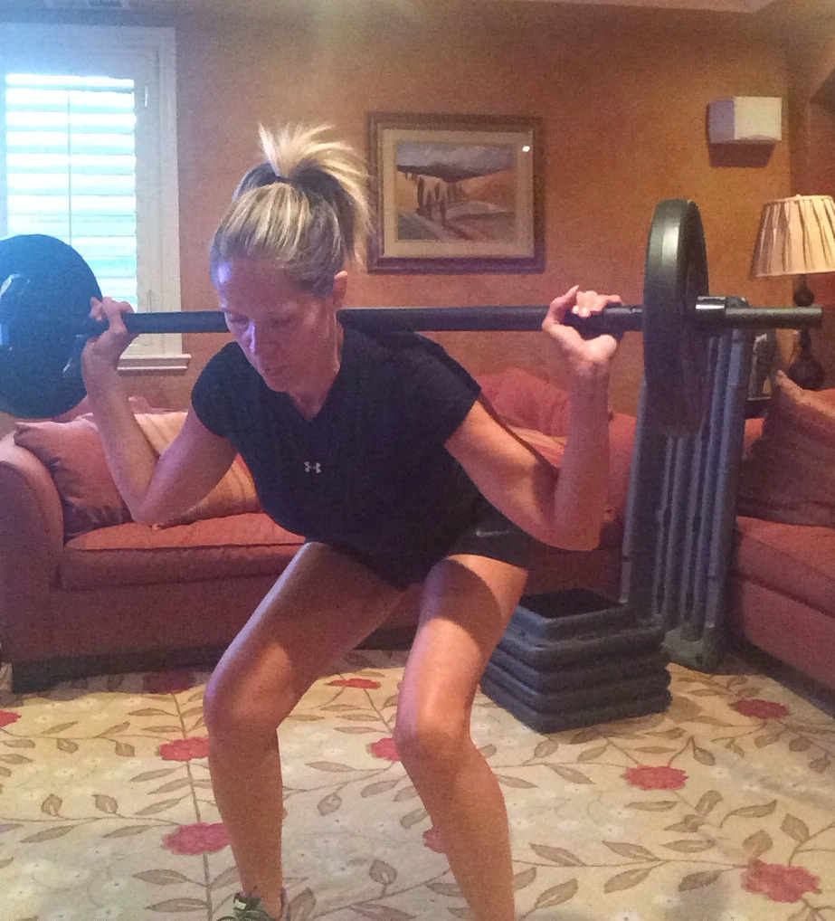 Using the REP EFFECT to work my legs with the LES MILLS PUMP workout