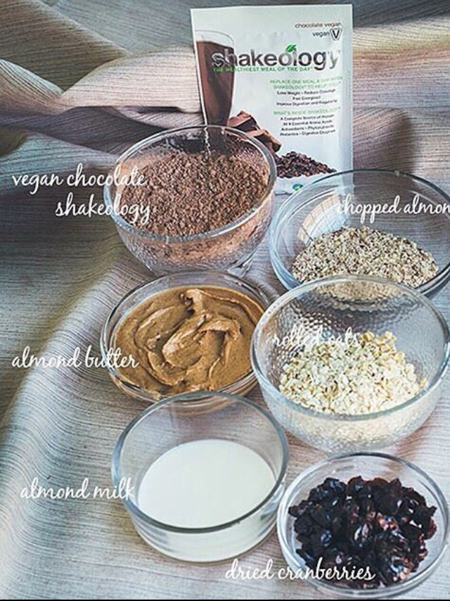 Ingredients for the HEALTHY COOKIES