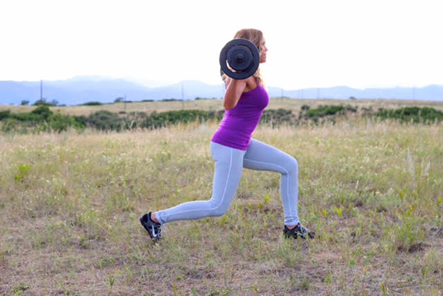 Walking lunges provide strong legs to bend and lift in your every day activities.
