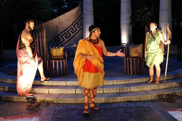 As Apollo in THE MINERVAE, Athens Square Park Astoria, NY 2012