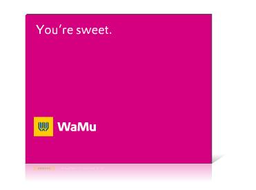 WaMu Friendly Banner Campaign