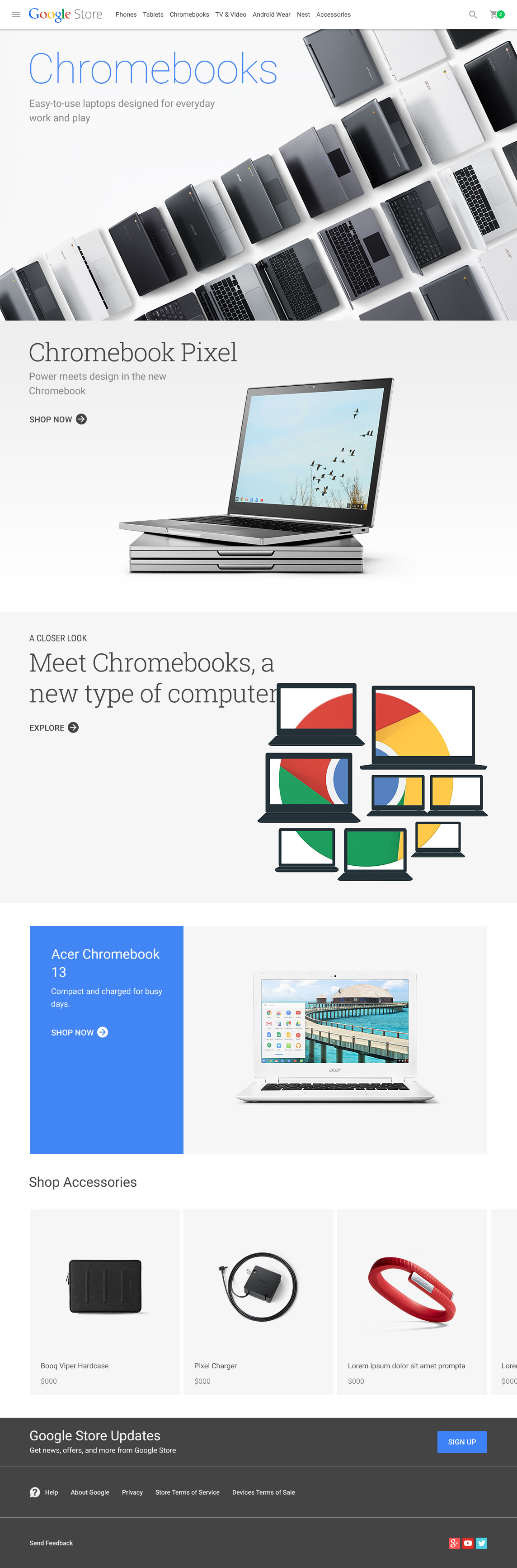 Chromebook Category Page
