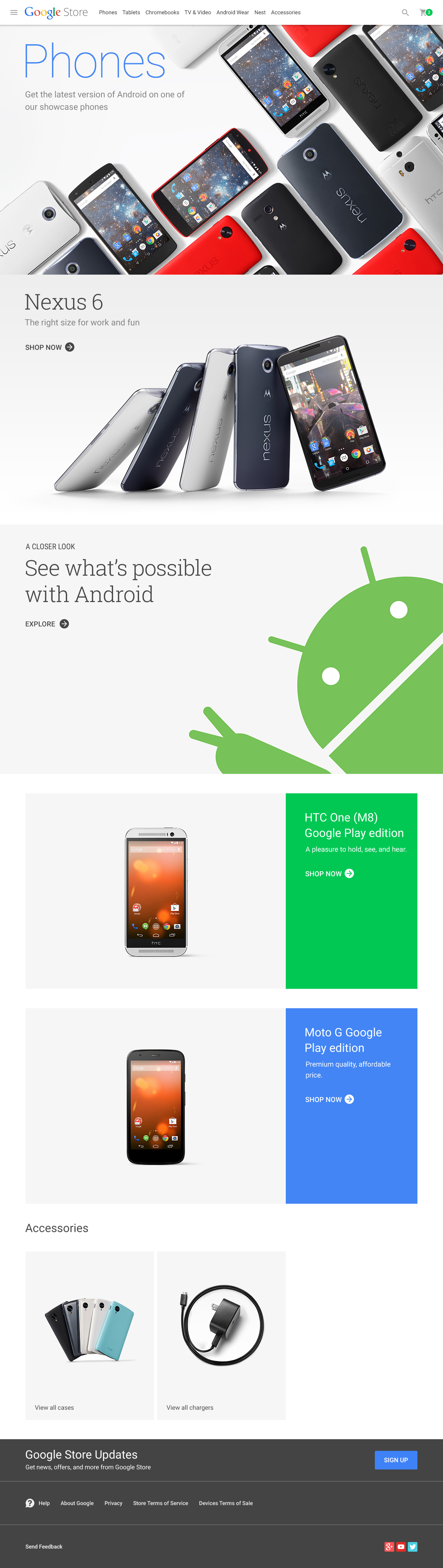 Android Phones Category Page