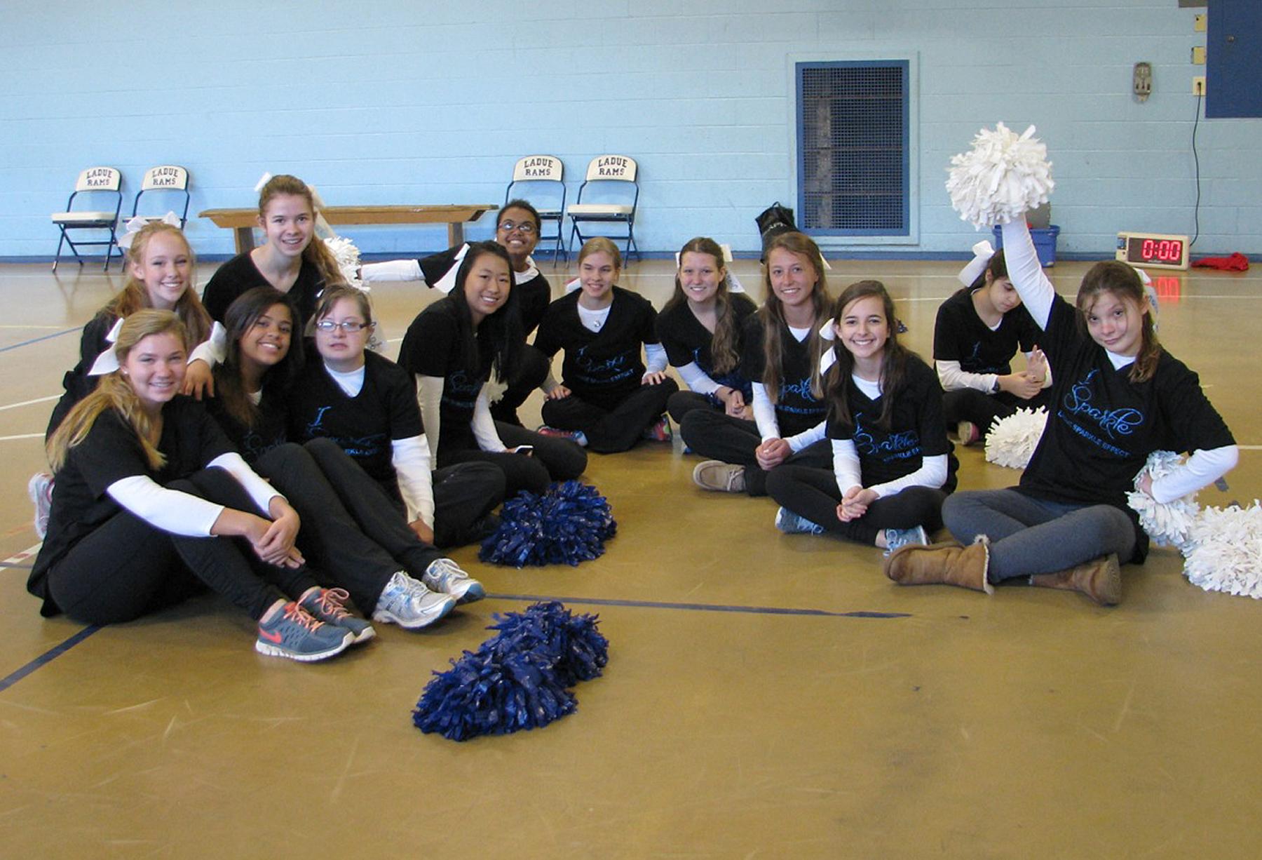 Members of LHWHS Sparkle Effect Cheerleaders