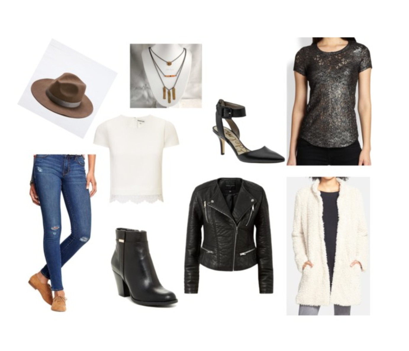 Thanks to Jaclyn, she's created a shopping list right from our shoot here on  Polyvore  to find these same styles for yourself.