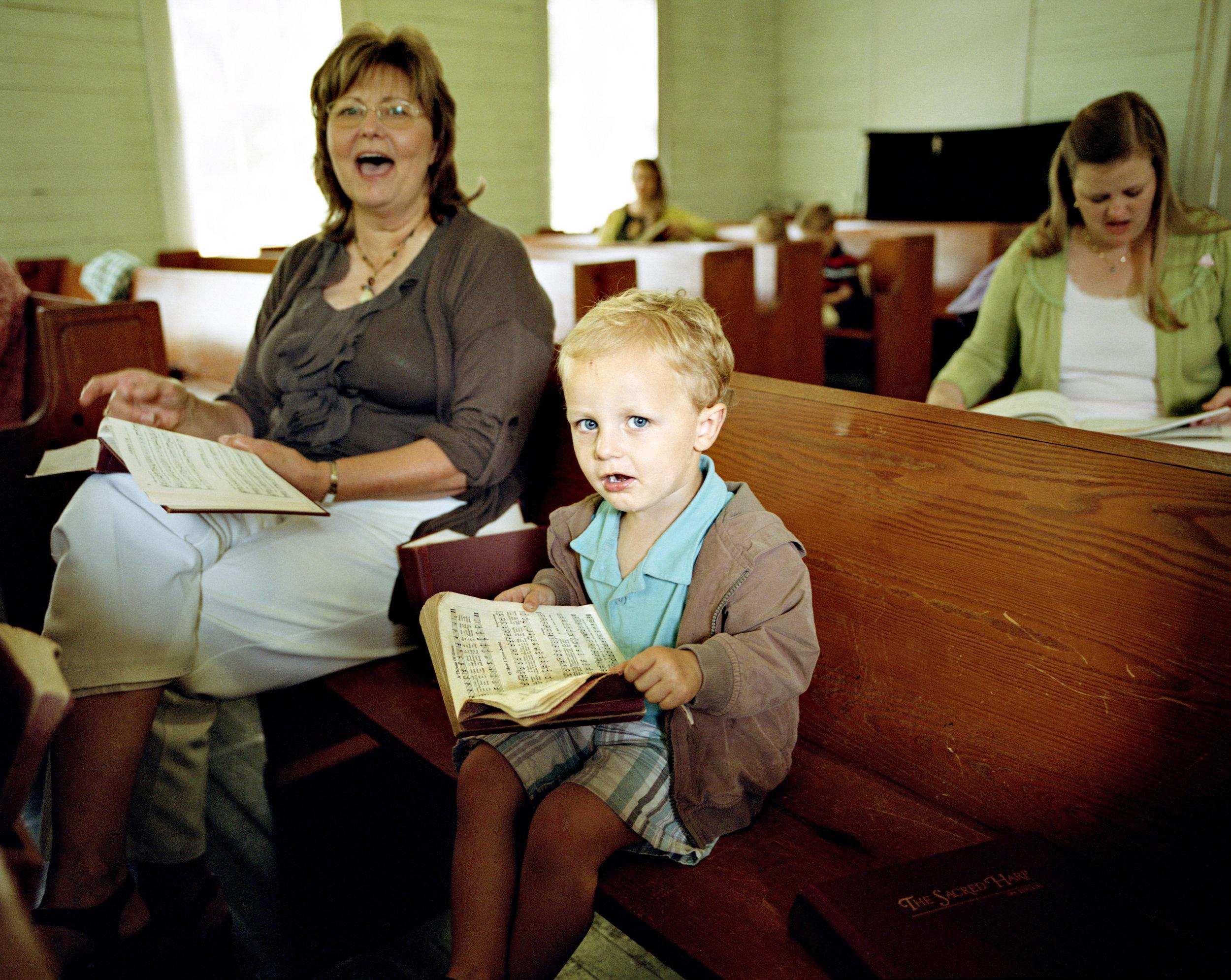 Liberty Hill Singing, Boy and his mom Raw.jpg