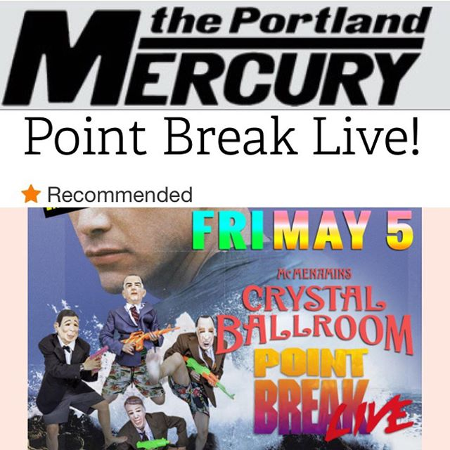 THANK U @portlandmercury !! We are stoked to finally play Portland!