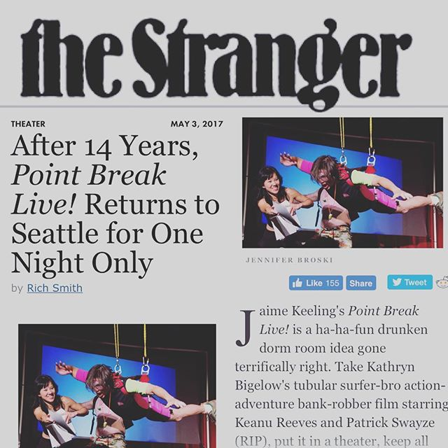 Thanks Rich and @thestrangerseattle ! Much 💕🤙🏽🌊5/6 @showbox