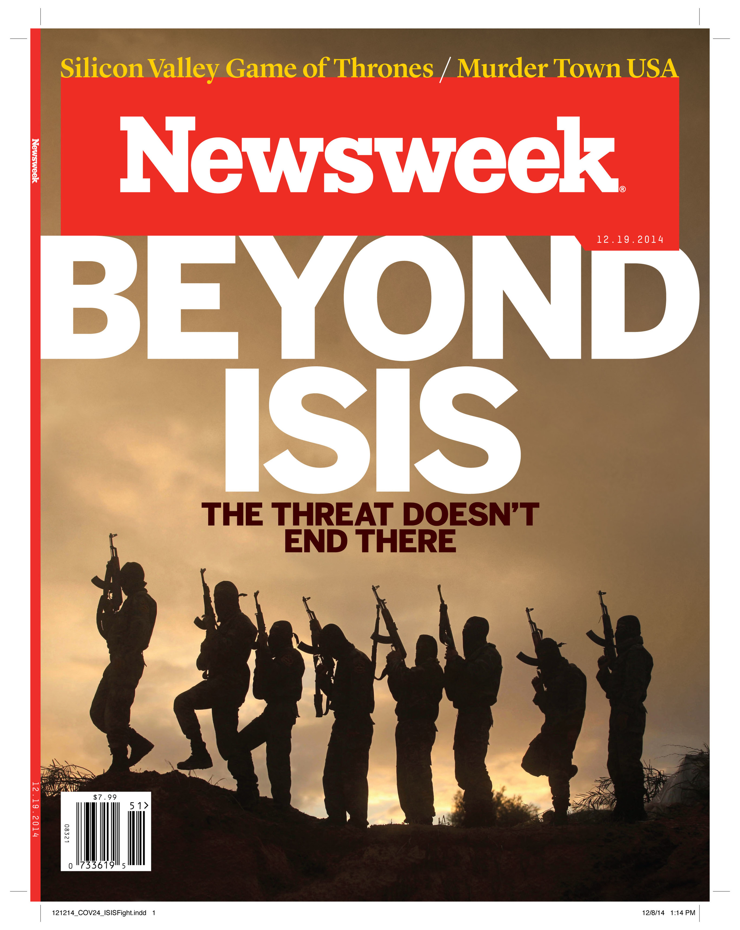 December 2014 / Research for front of book and interior cover story on the Islamic State.