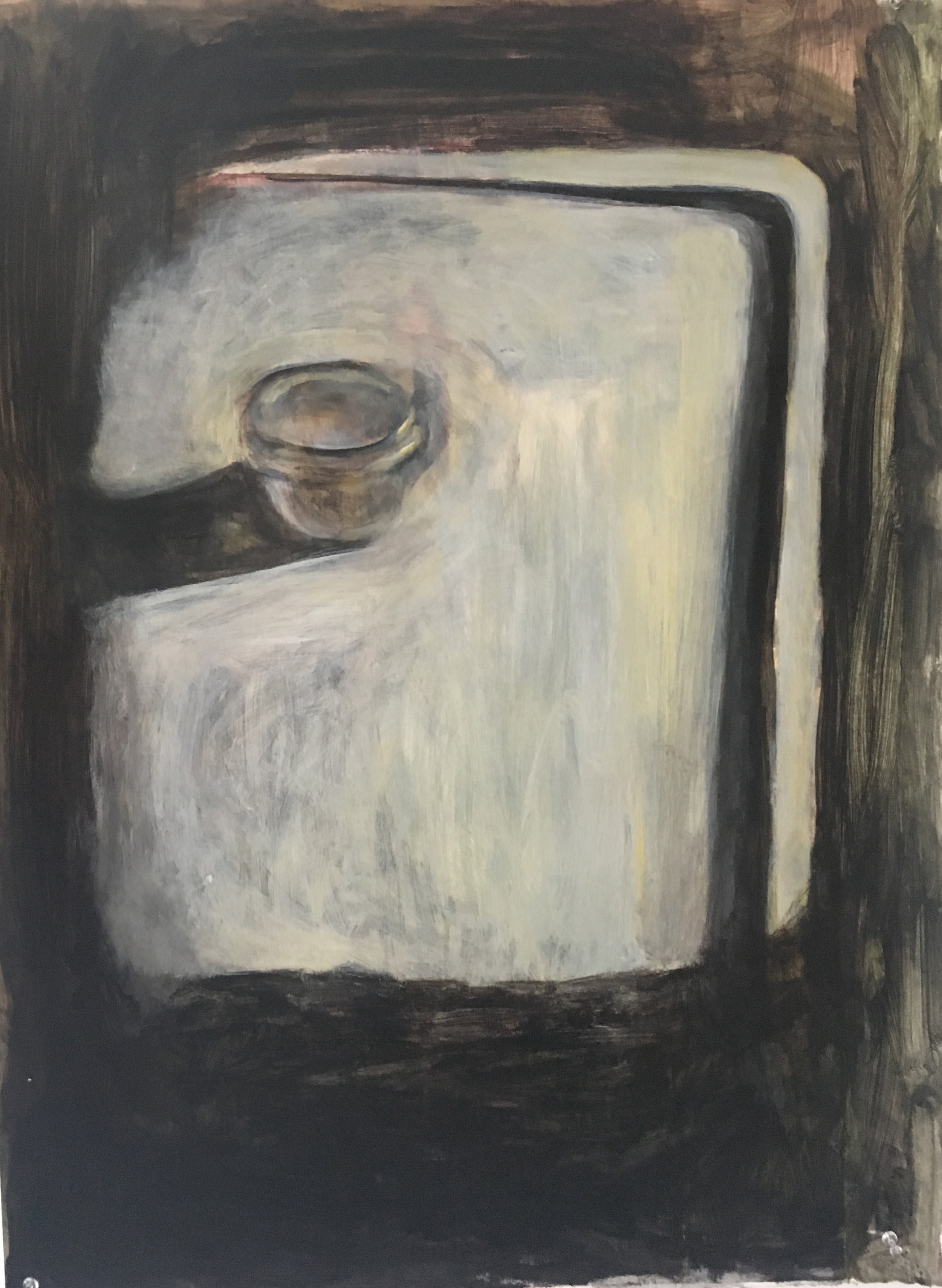 Glad Snack Cup Chiaroscuro    Acrylic on Paper  22x30