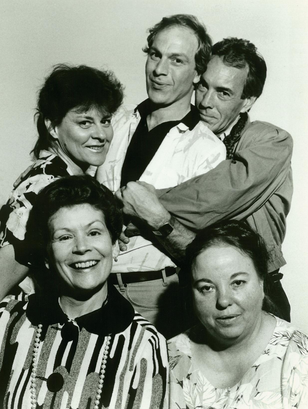 The cast of  Blood : Susan Jones Manino, Craig Michael Lewis, Hue Sabri, Katherine Shepard, Fredda Hardy