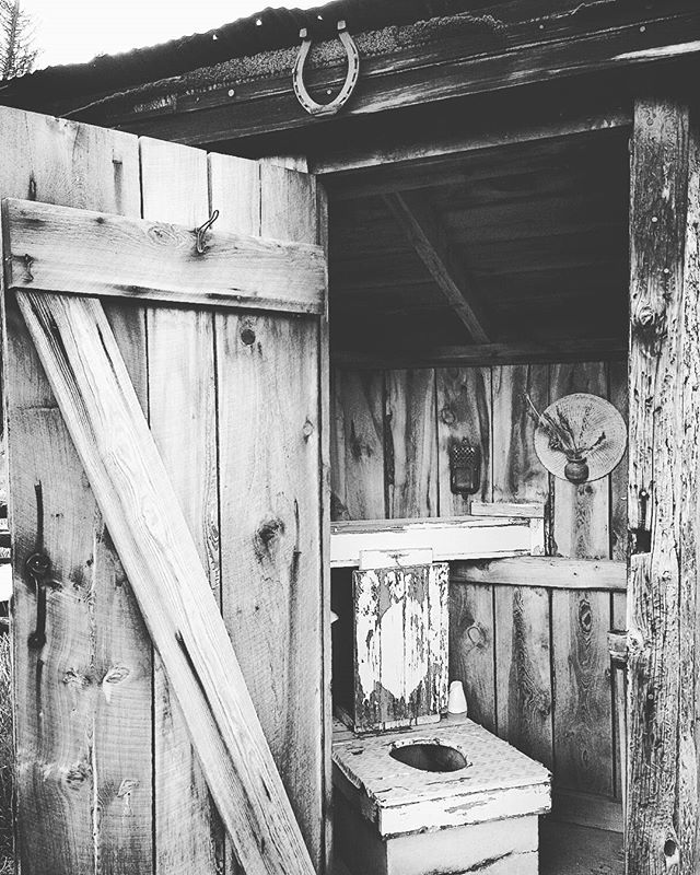 One of Bill's #outhouses at the Guffey Hostel. His outhouses are in the outhouses of Colorado book.