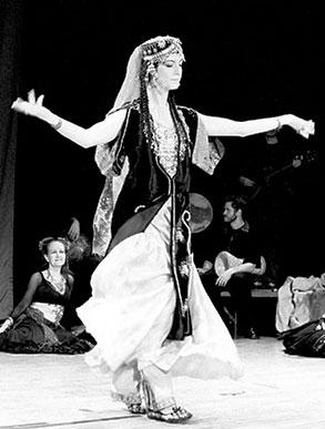 August 25th 2004 -Women's Week at International House with guest artist Anoush, Uzbekistan dancer and musician.