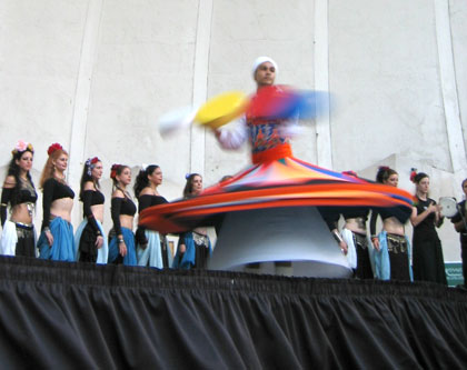 September 21st 2004 -Lincoln Center with PURE guest artist, Yasser the Egyptian Whirling Dervish.