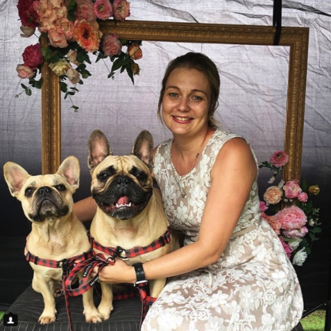 Miss Louis the Frenchie French  and  Kobe the frenchie  were one of the celeb pooch pairs that had their photos taken.