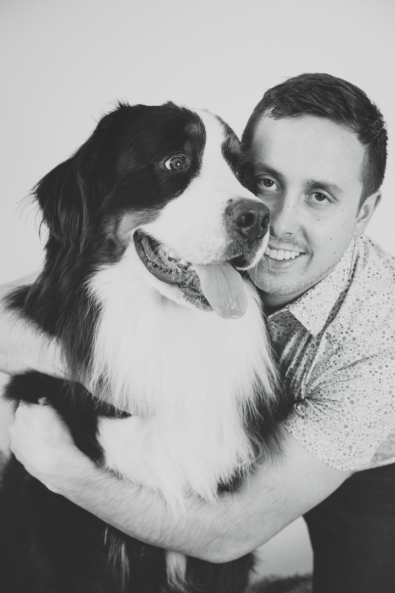 black and white pet photography auckland