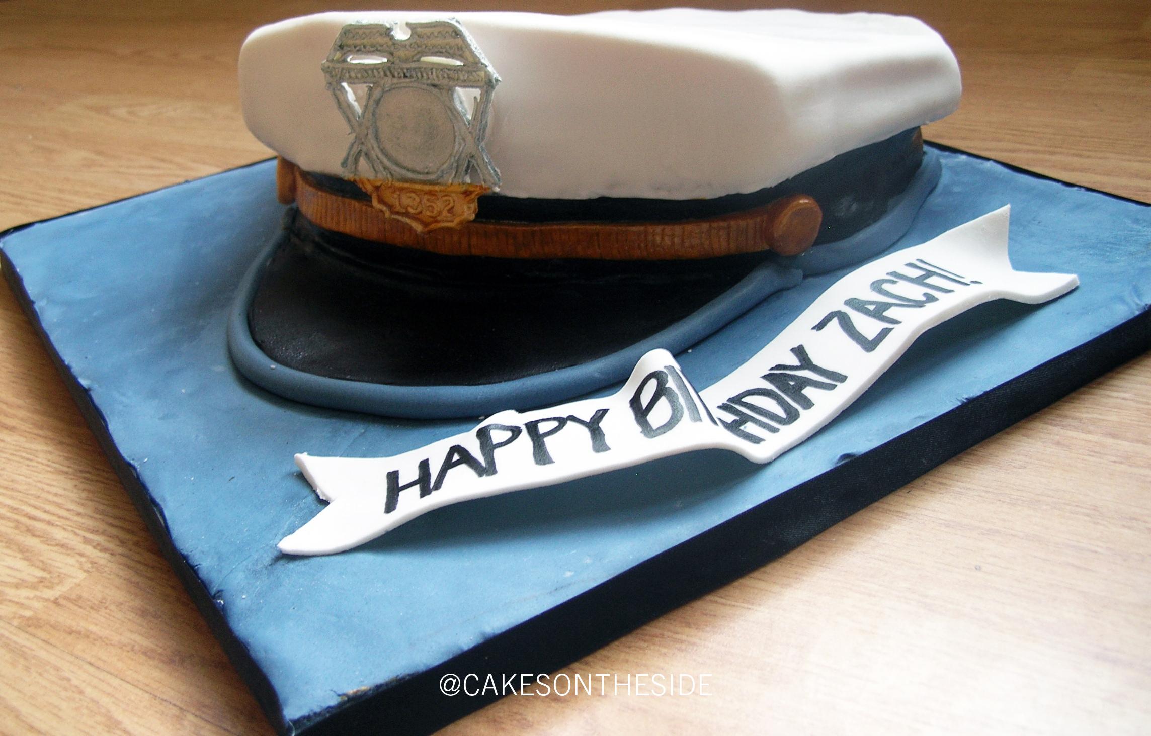 Birthday Cake - Police Hat