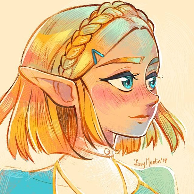 My Queen 🥰 I really hope the nintendo gods listen to our prayers and make her a playable character in BotW 2. #zelda