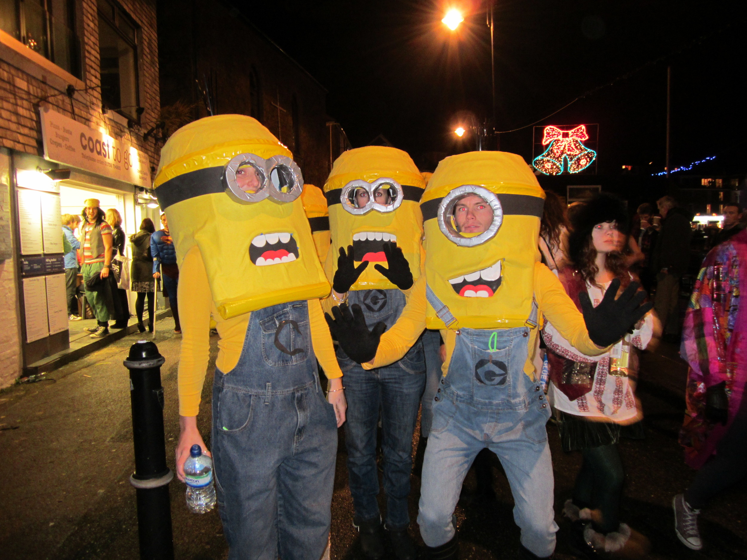 New Years fancy dress street party in St Ives