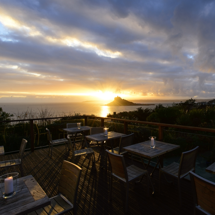 4. Cocktails at the Mount Haven Hotel - Its hard to argue against how relaxing that view and a nice cocktail would be. Seeing the sun go down from this viewpoint after a long day of exploring everything Cornwall has to offer is a must for your holiday checklist!