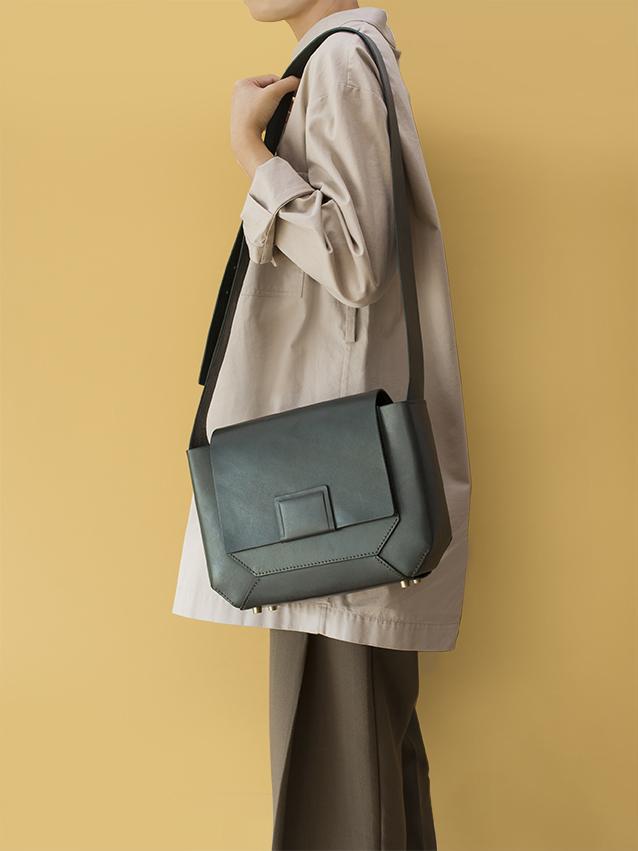 幾何切面側背包