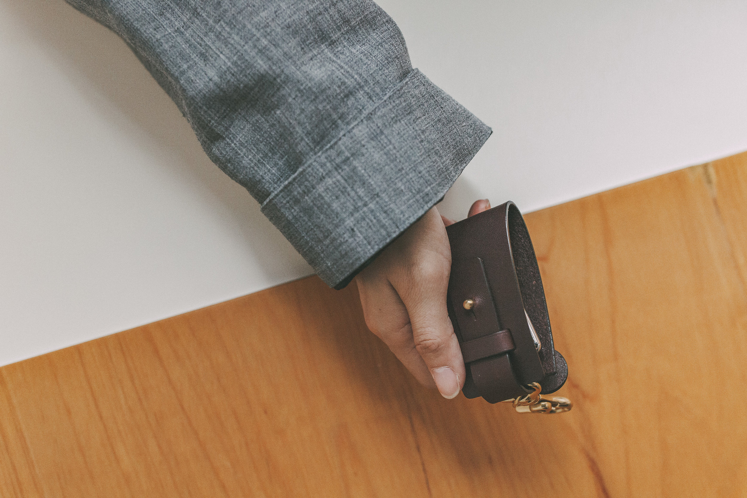 梯形旋轉鑰匙包