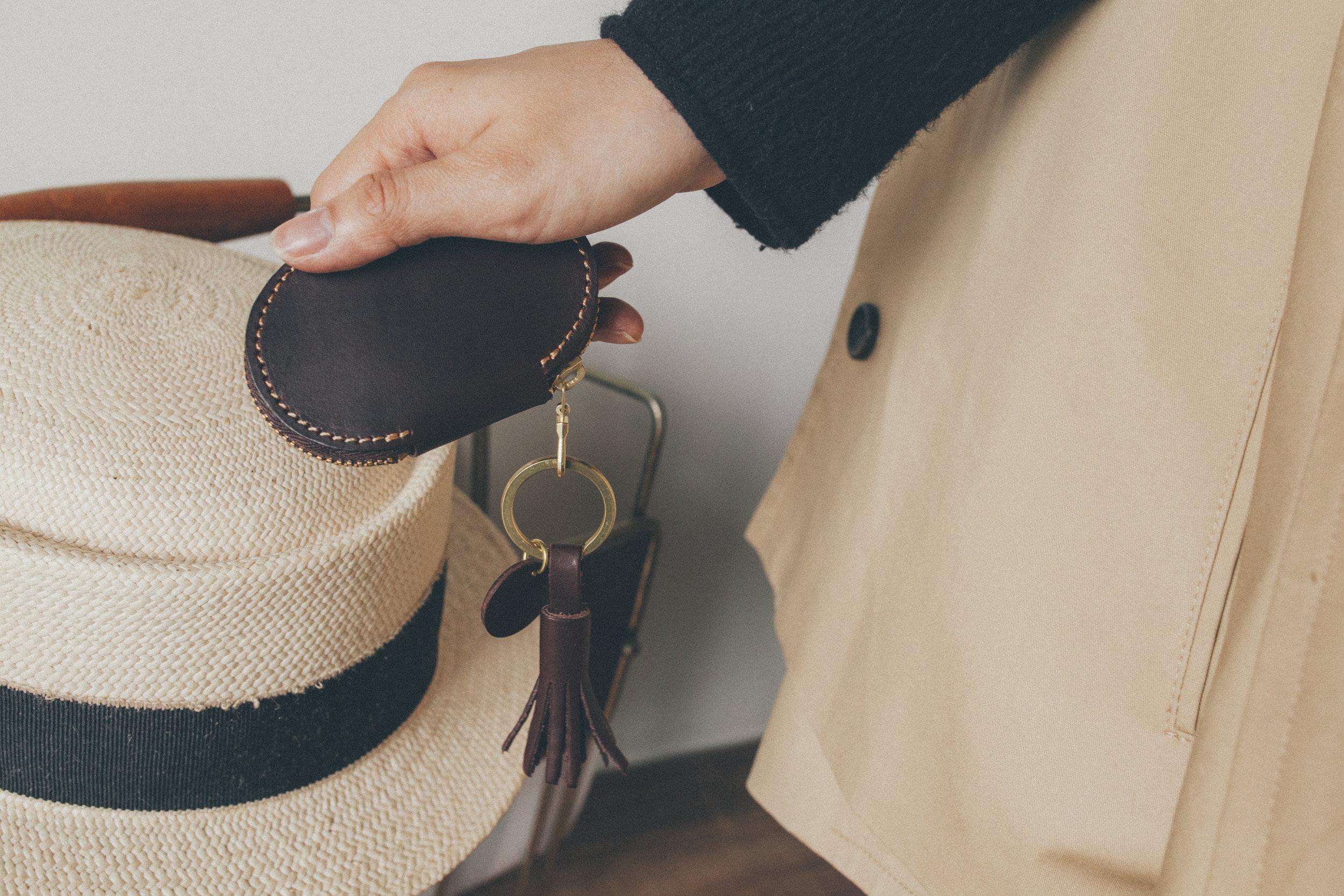 蛋型拉鍊鑰匙包