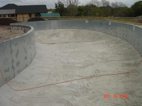 Concrete floor formed