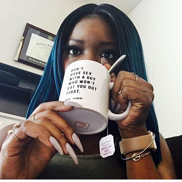 There are 10 of these mugs left until they are sold out. Thank You to all of the cool ass black girls who've invested in my brand. I appreciate the black and brown women who've made my business real.