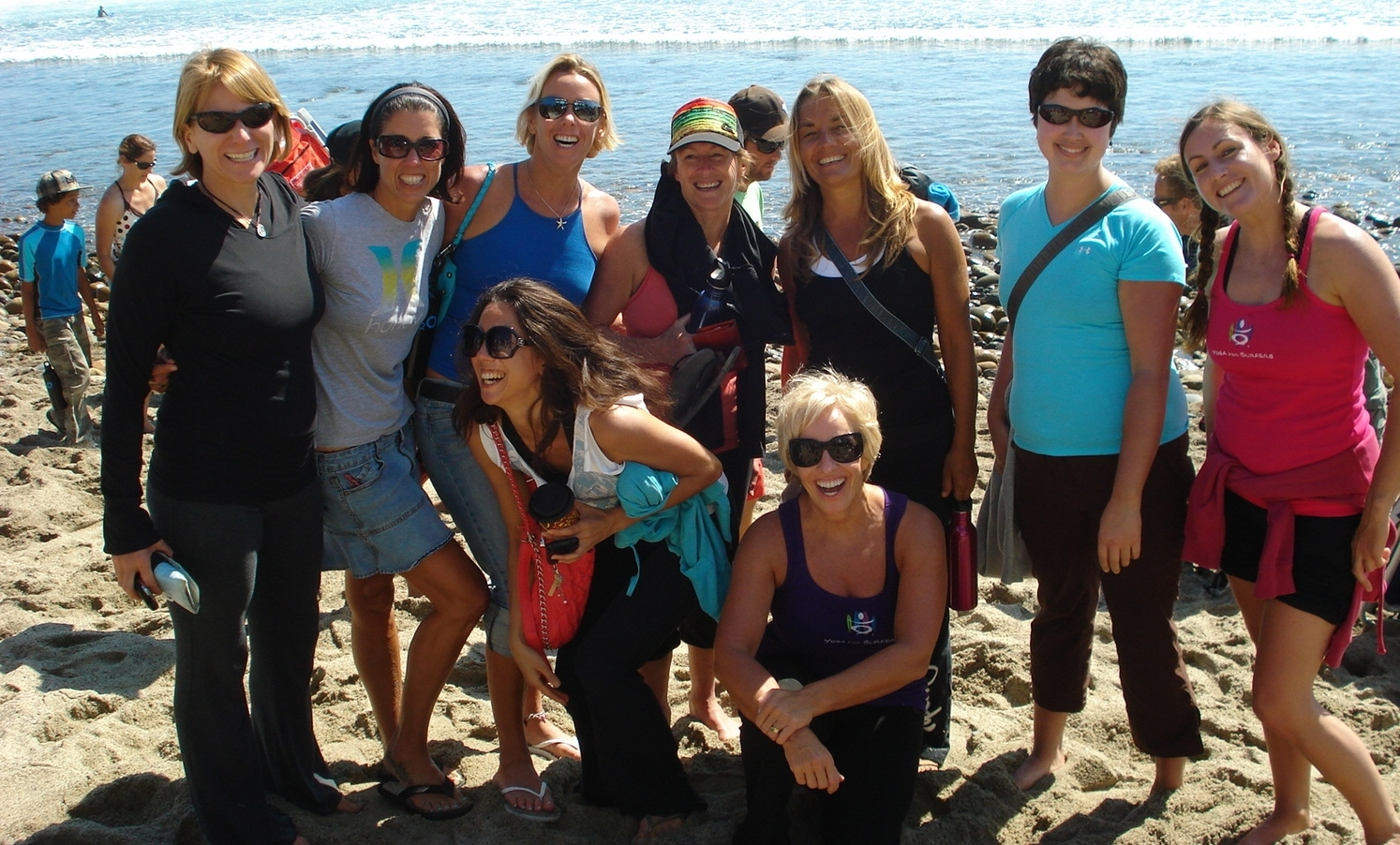 Participants come from all over the world to train and surf with Peggy in San Clemente