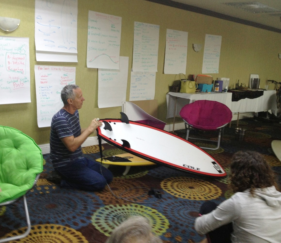 You get surfing advice in our daily surf clinics with YFS co-founder and awesome surfer david hall