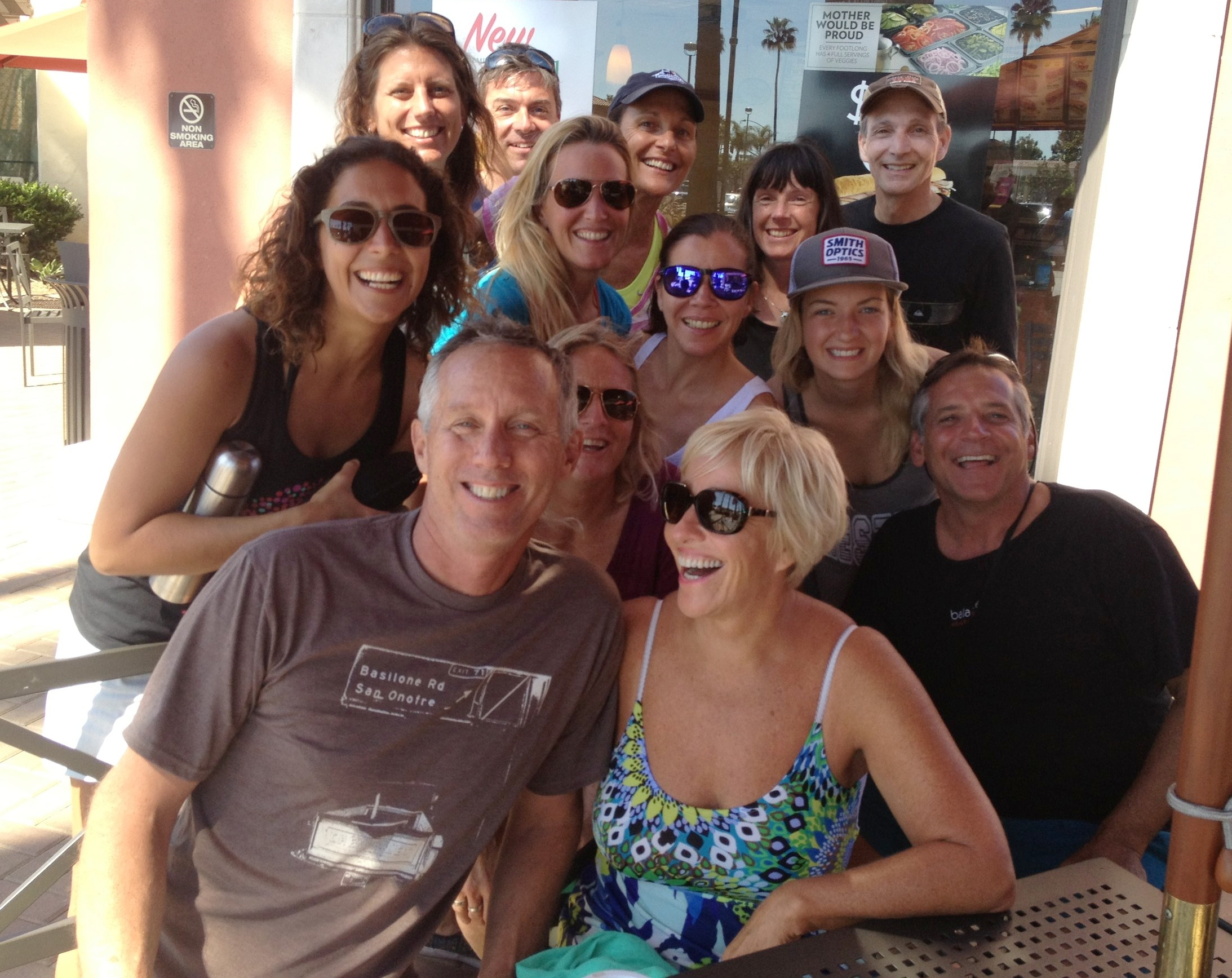 We enjoy most of our meals together, especially lunch after a morning of surfing + yoga!
