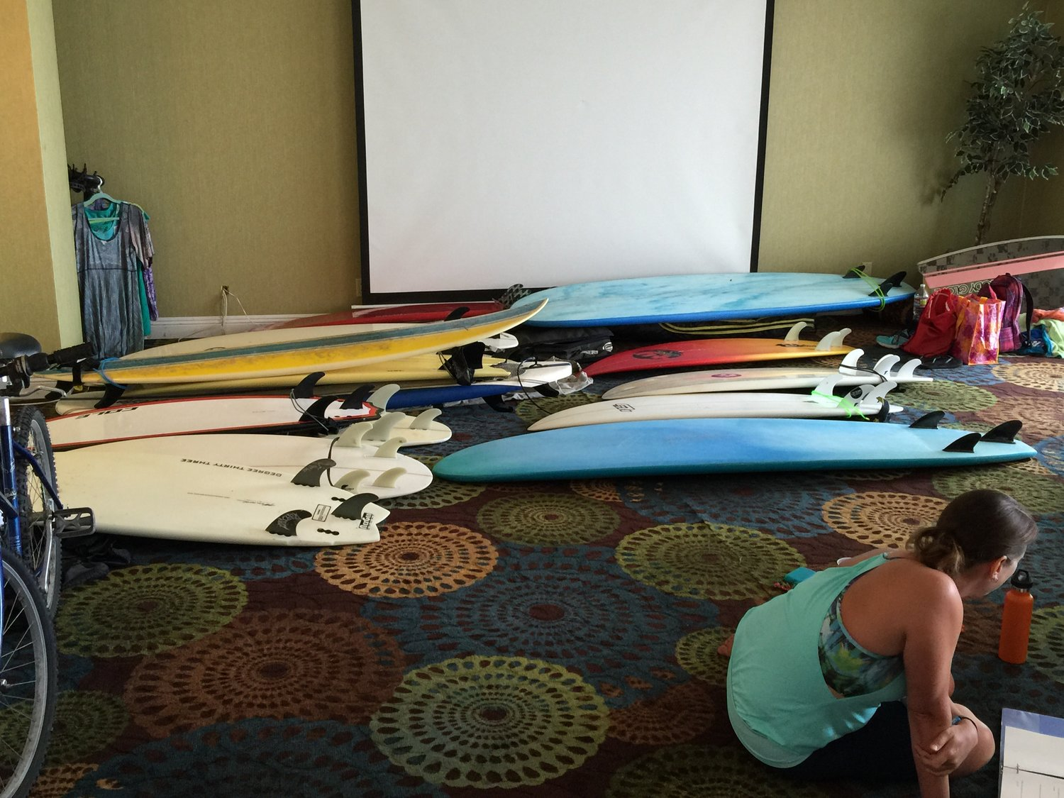 you'll have plenty of boards to borrow and try for a new experience!