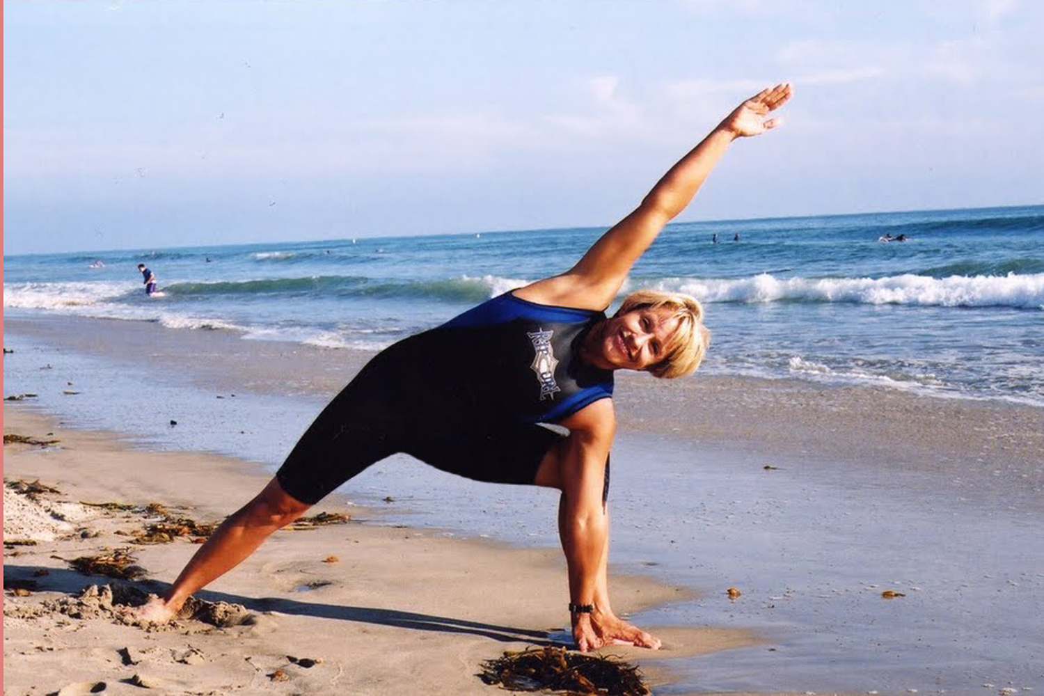 enjoy a morning yoga class led by peggy right on the beach before surfing!