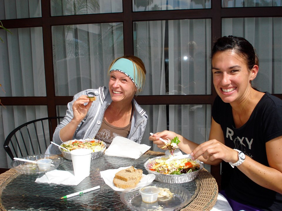you'll feel like a local eating at all the friendly and healthy local cafes and restaurants -- so good after surfing!