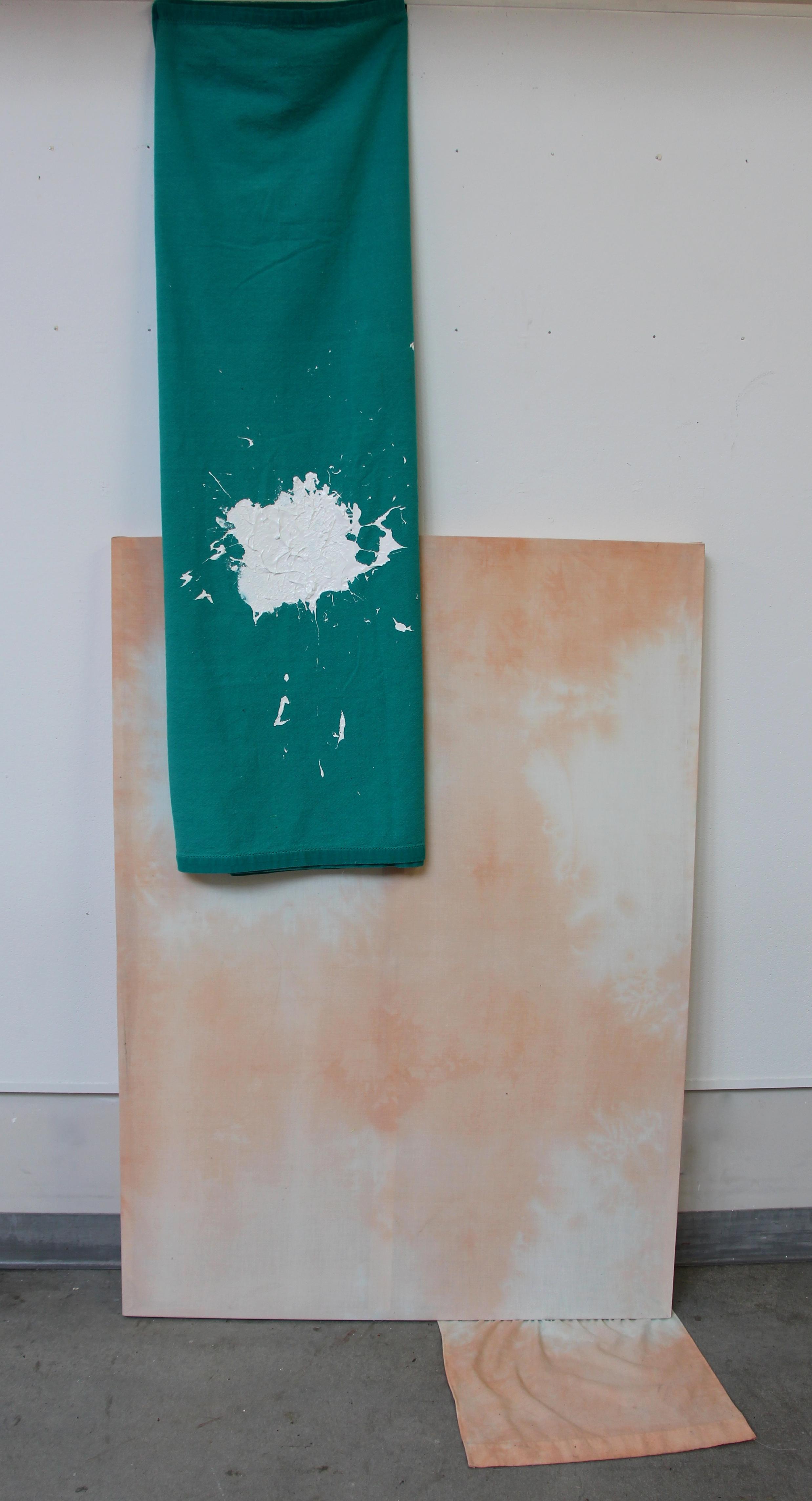 Bang On! (2014) Dye and Acrylic on Textile.