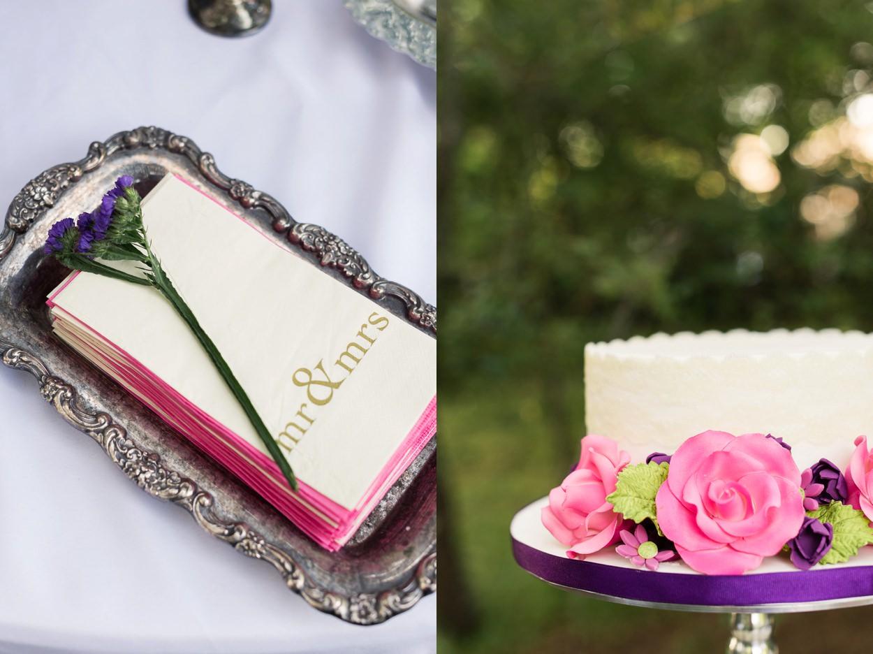 cake details at reception edmond