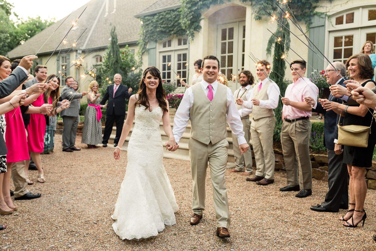 sparkler exit oklahoma wedding