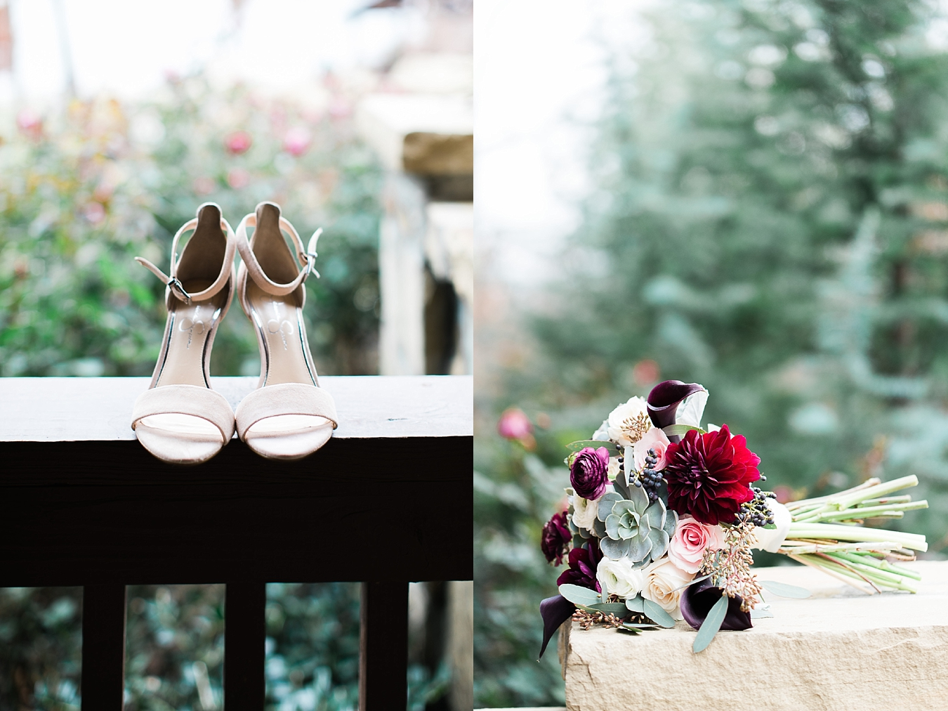 shoes and bouquet at the springs skiatook