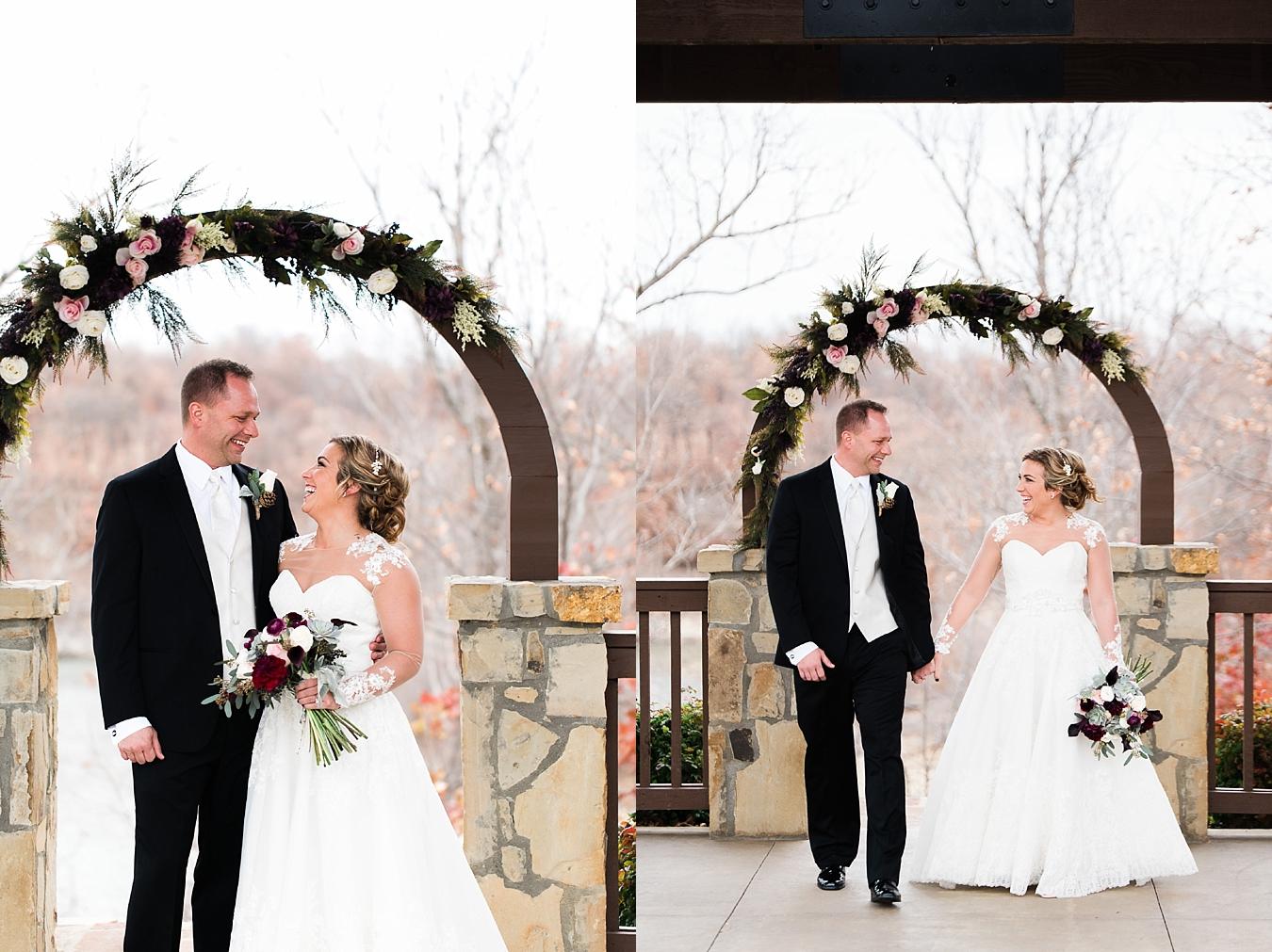 couple at tulsa wedding winter