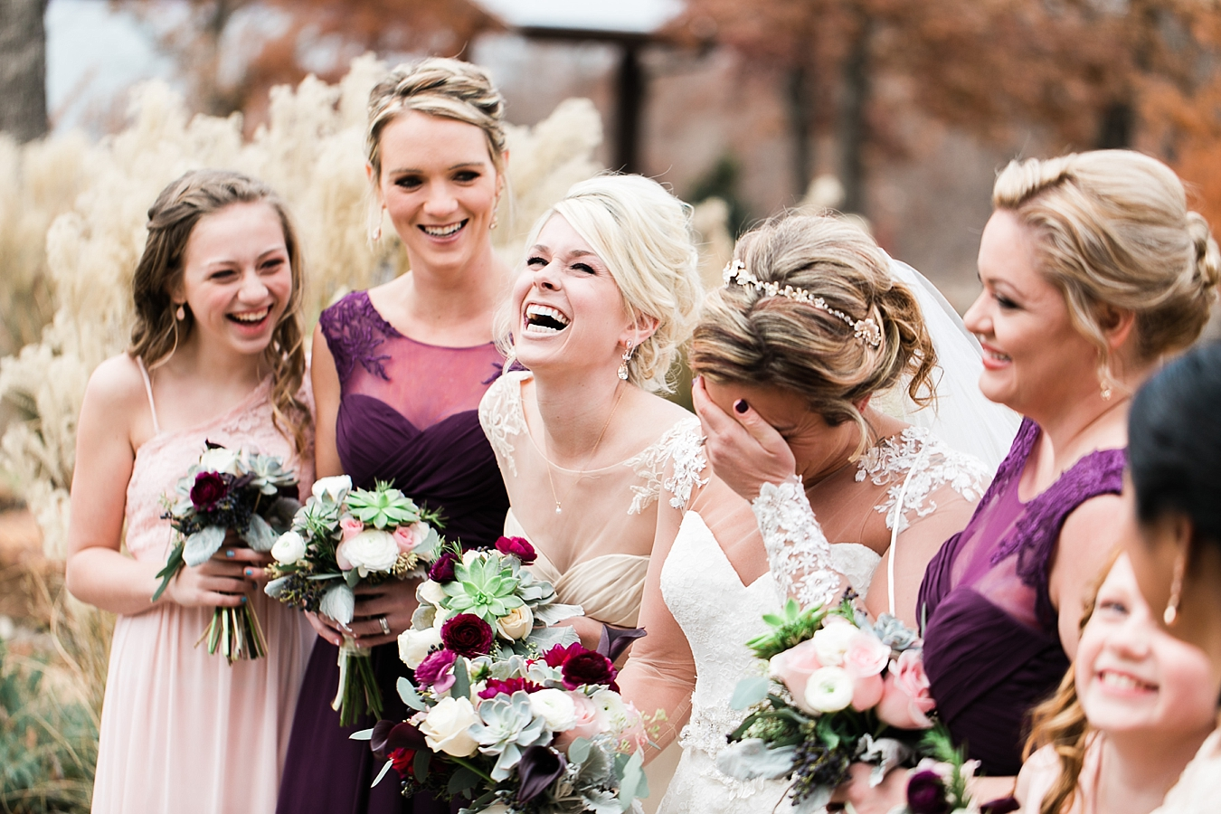 bridal party candid photo at the springs events