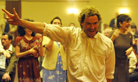 Jonathan Blake (Dominic West) dances at the first meeting of L.G.S.M. and the miners of Wales in PRIDE.