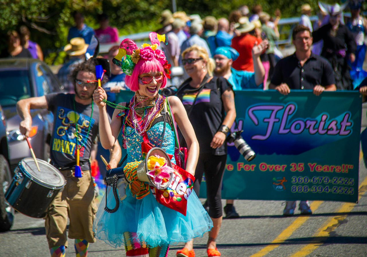 First Annual Queer Pride Parade on Whidbey, August 2014 - Photo by David Welton
