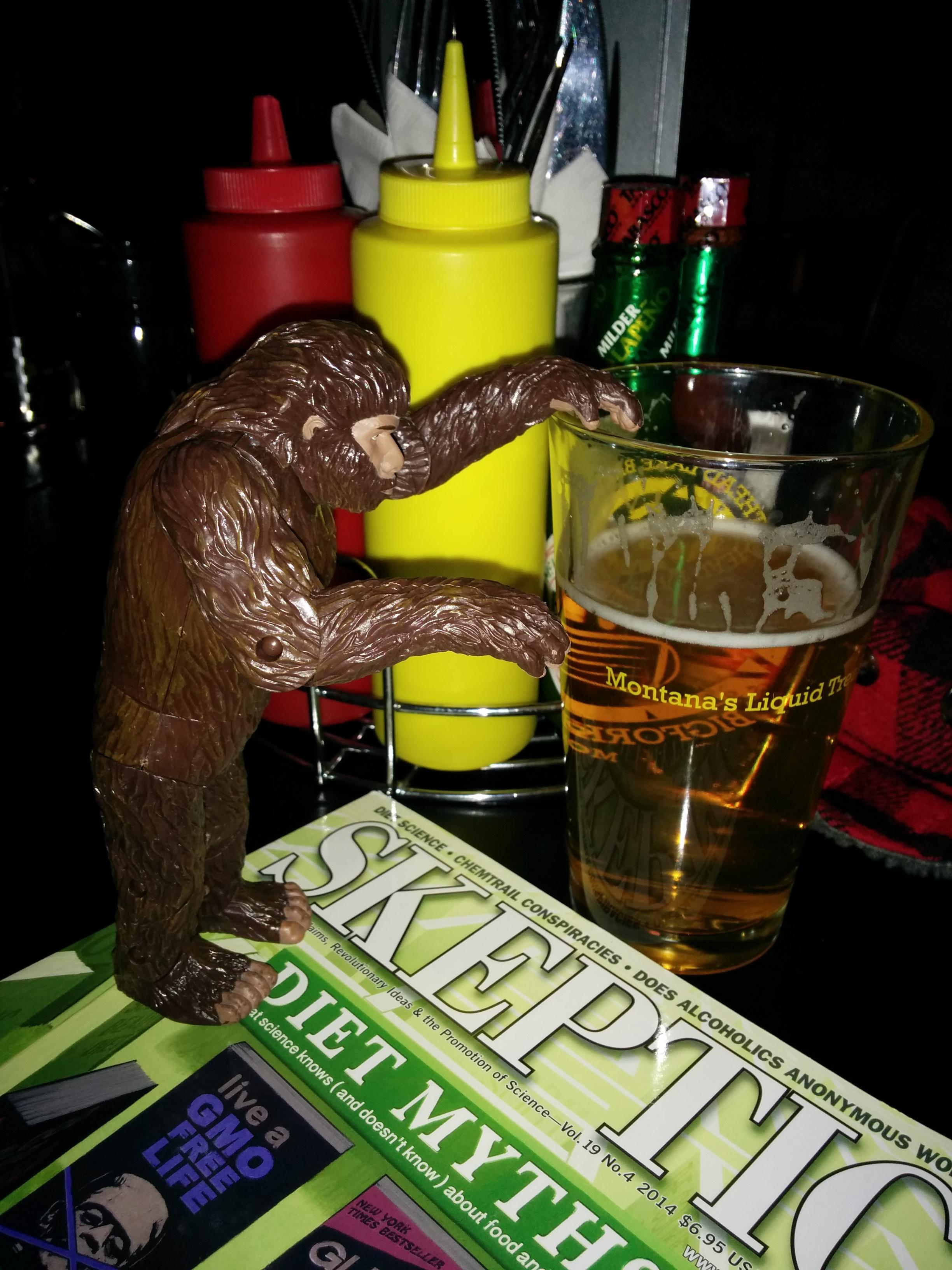 Skeptics in the pub mascot....
