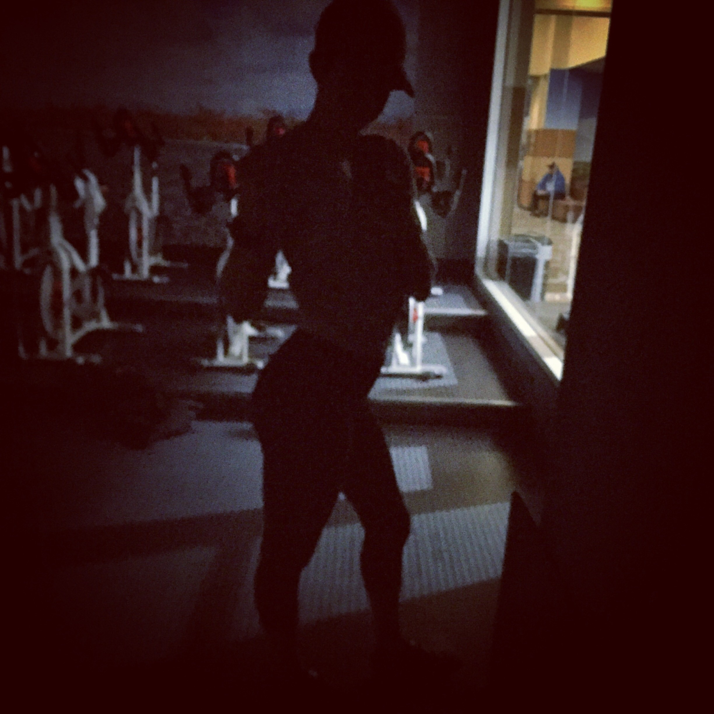 Being that creep at 5 in the morning in the dark cycle room!